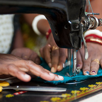 8,812 Sewing machines given to women and men as a source of income