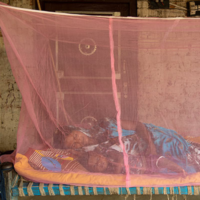 380,000 mosquito nets distributed
