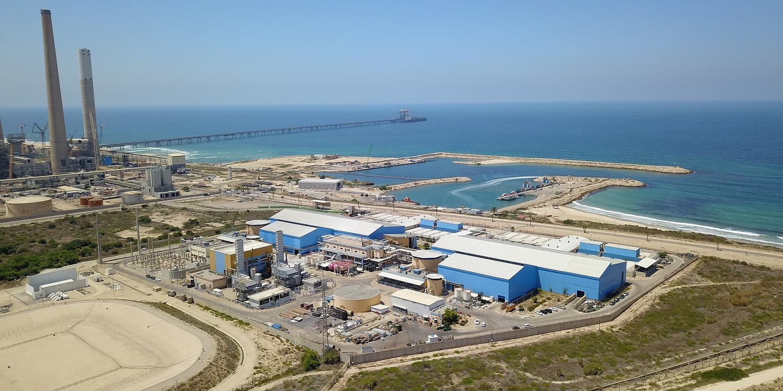 The Ashkelon desalination facility, one of the largest in the world, is one of five plants along the Mediterranean Sea providing Israelis with 65 percent of their drinking water.