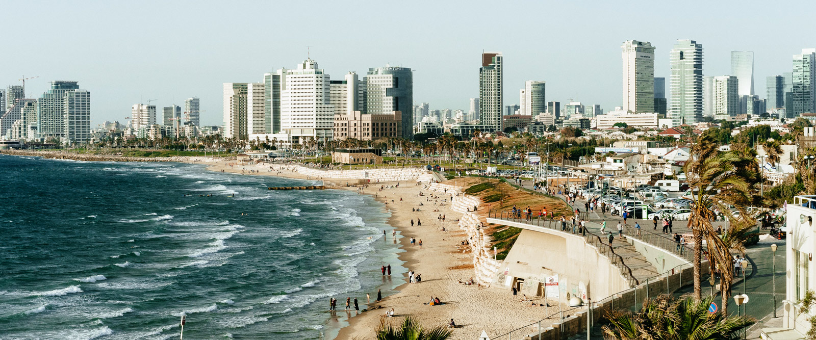 The shoreline in Israel