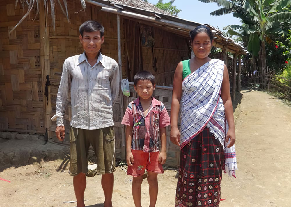 Kanal with his family