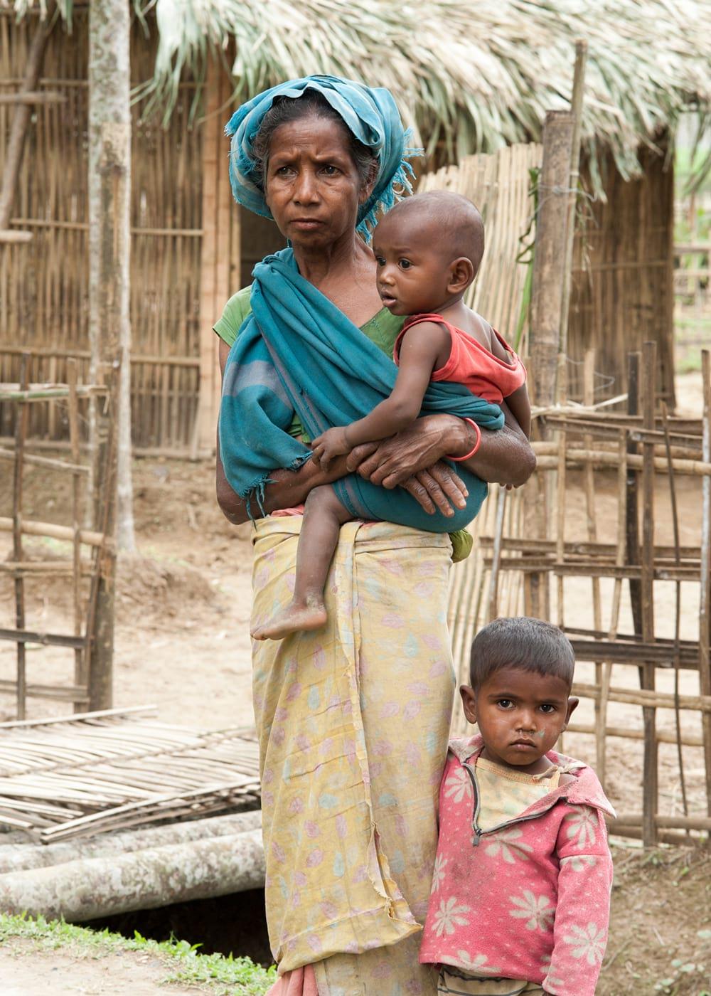 A widow with her children