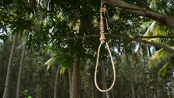 Women attempt suicide by hanging themselves.