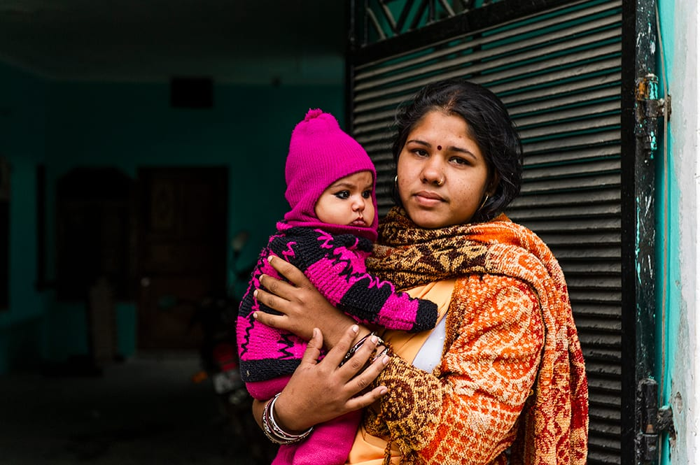 Woman and little girl from South Asia