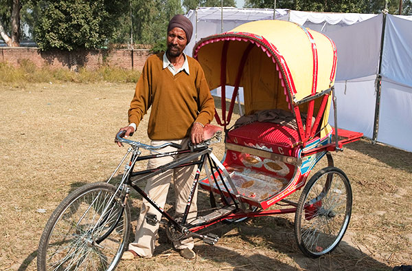 A gift of a bicycle rickshaw can change the financial situation of a family