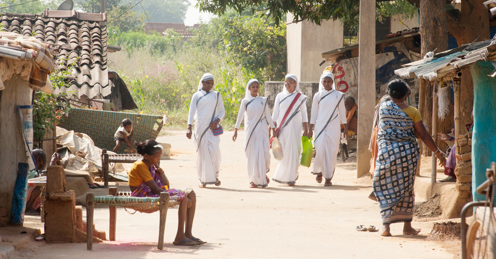Sisters of Compassion are specially trained to minister in leprosy colonies.
