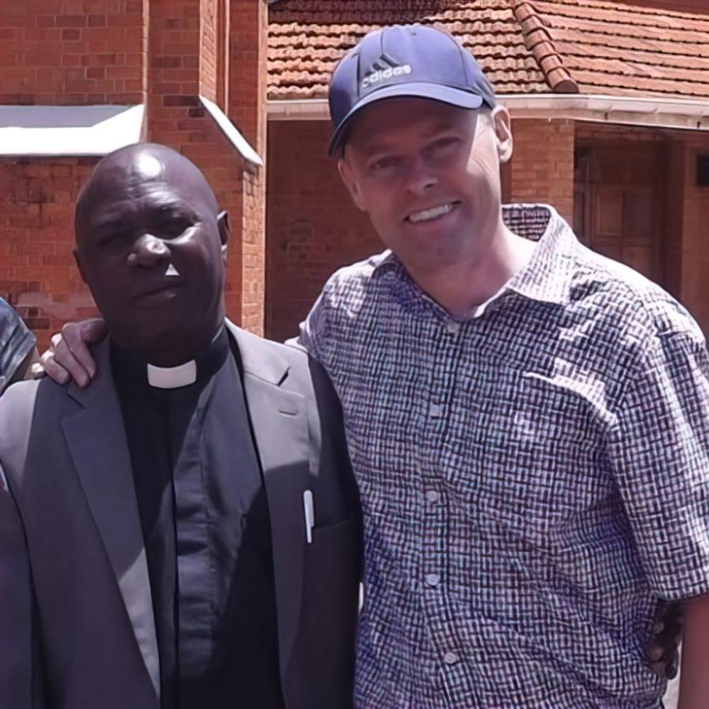 Julian Lukins with Stephen Kaziro of the Church of Uganda