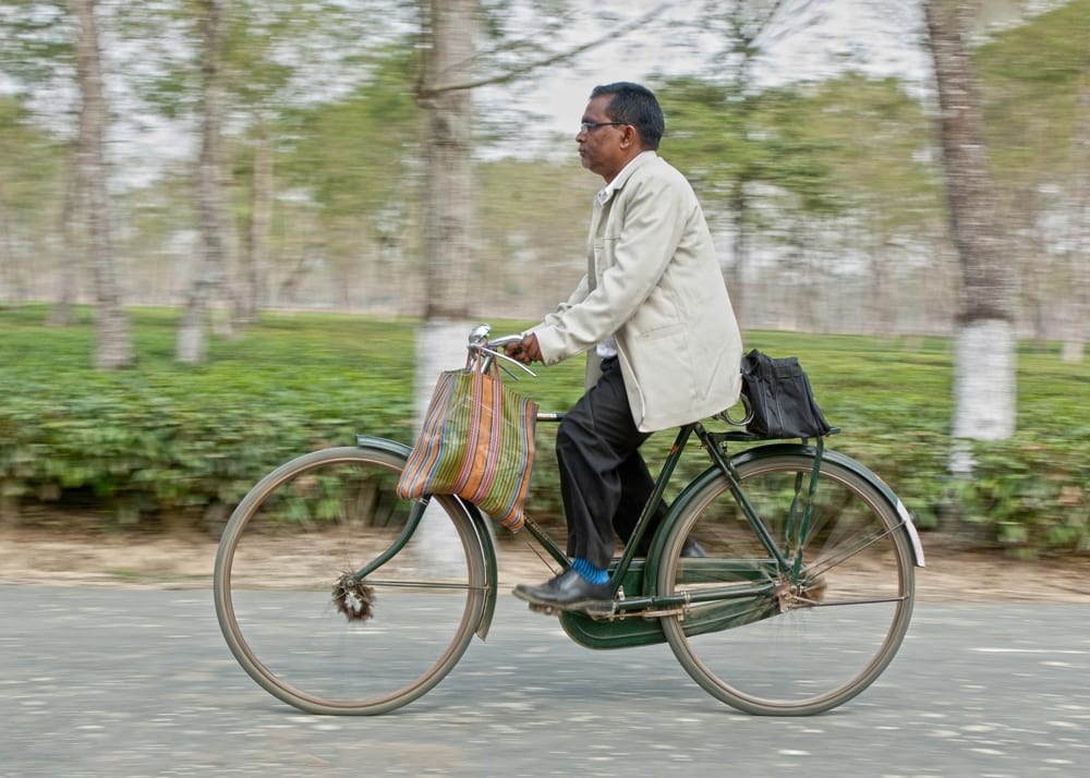 Rainer, GFA national worker, and his bicycle