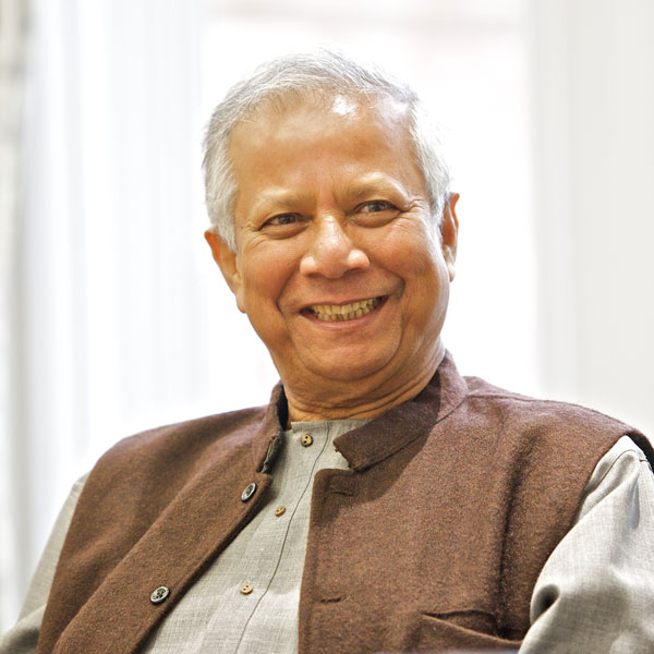 Nobel Peace Prize winner Muhammad Yunus championed his concept of social business as a way to release deprived people from the 'prison' of welfare at a special summit hosted by the University of Salford on Saturday 18 May.