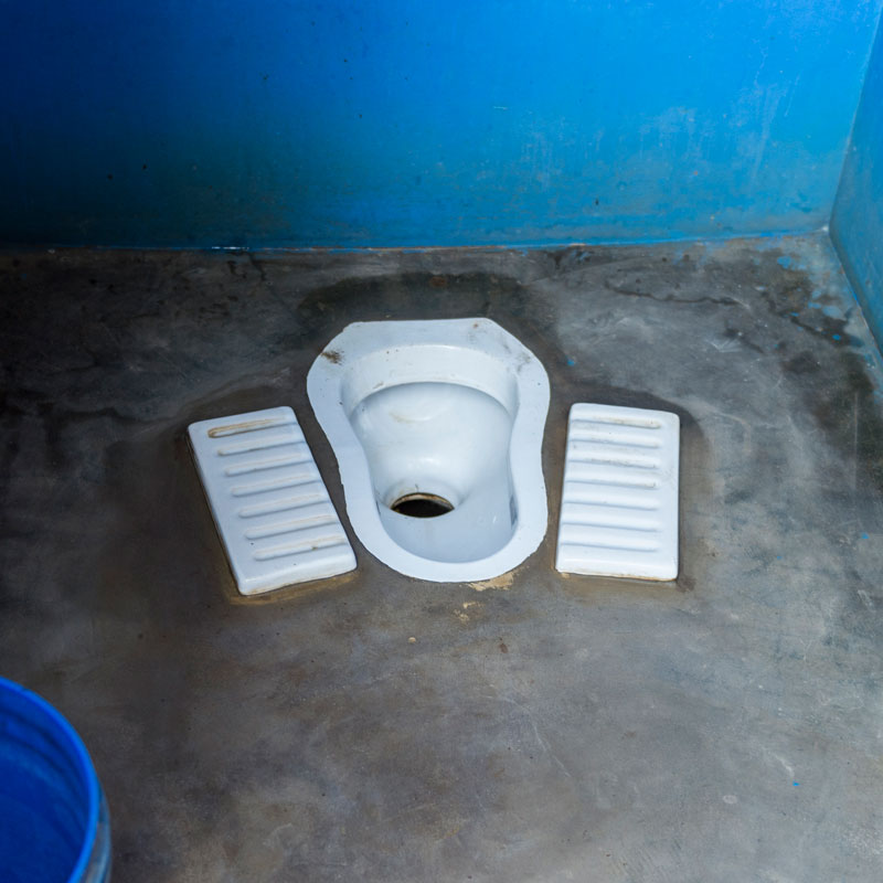 A Squat Outdoor Toilet in Asia