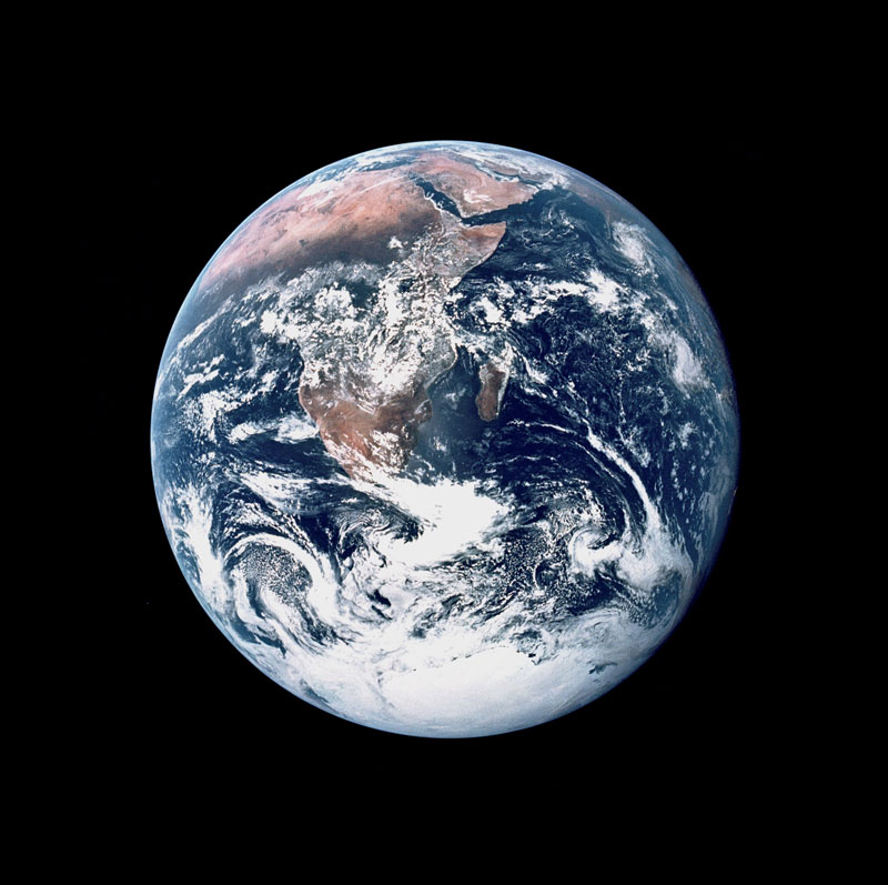 The Blue Marble photo of earth from Apollo 17