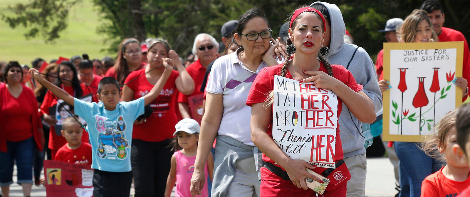 Cheyenne and Arapaho Tribes of Oklahoma march in June to demand action on missing and murdered indigenous women.