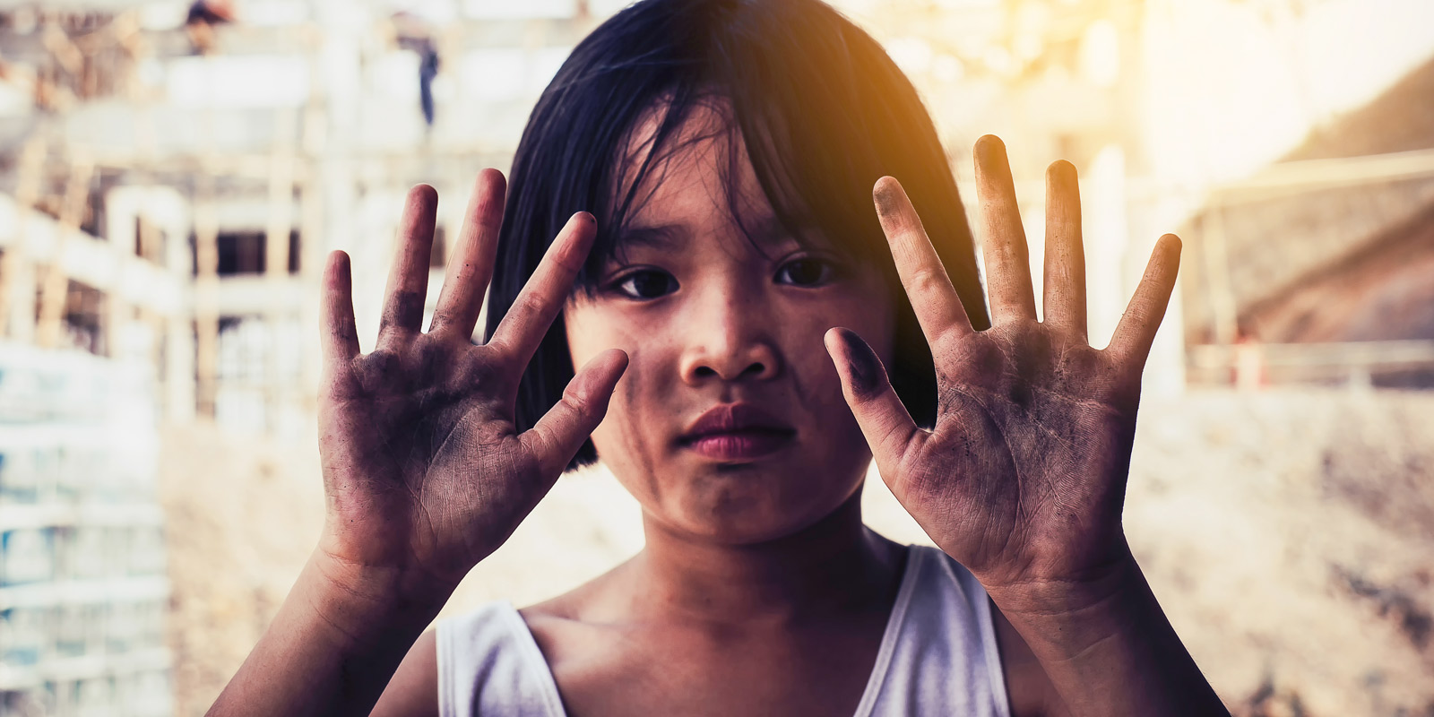World day against child labor concept
