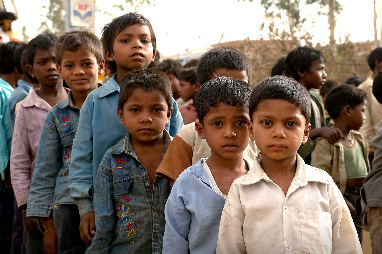 Children standing in line